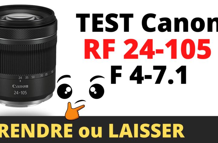 test objectif kit canon