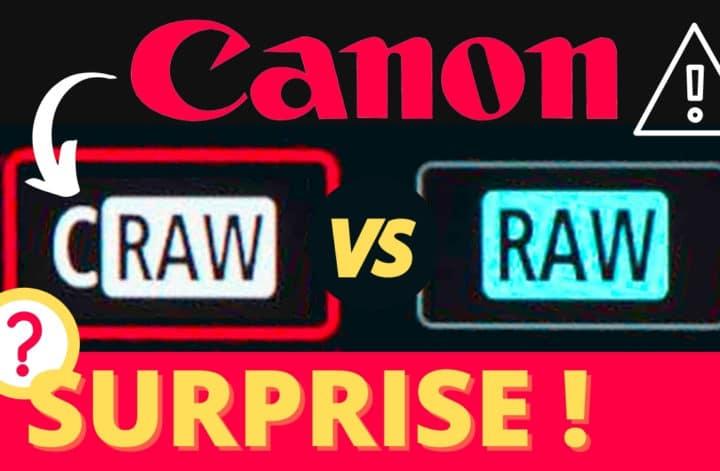 Canon CRAW vs RAW