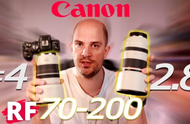 comparatif Canon RF 70-200 2.8 vs F4