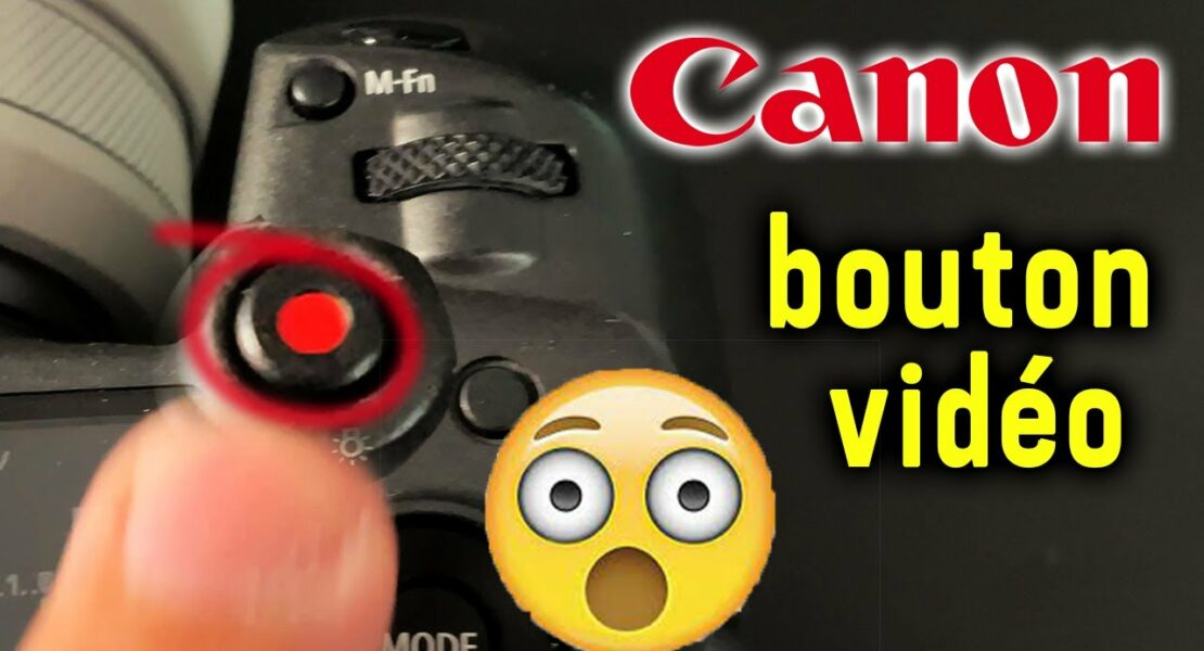 configuration bouton video canon R5